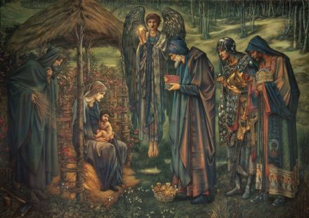 Burne-Jones, Sir Edward Coley: The Star of Bethlehem. Fine Art Print/Poster. Sizes: A4/A3/A2/A1 (004057)